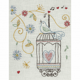 Birdcage Anchor Embroidery Kit Starter Wedding Cupcakes Birdcage Keys Home Sweet Home