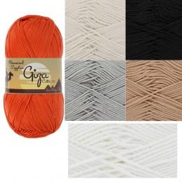 White King Cole Giza Cotton DK Knitting Yarn Mercerised Egyptian 100g Wool