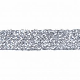 Silver Essential Trimmings 11mm Metallic Braid Sparkly Trim