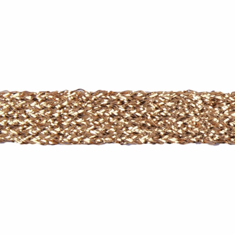 Gold Essential Trimmings 11mm Metallic Braid Sparkly Trim