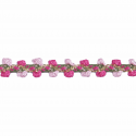 Pale Pink/Dark Pink Essential Trimmings 1m x 8mm Braid: Metallic Rayon Dress Trim