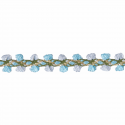 Pale Blue/Mid Blue Essential Trimmings 1m x 8mm Braid: Metallic Rayon Dress