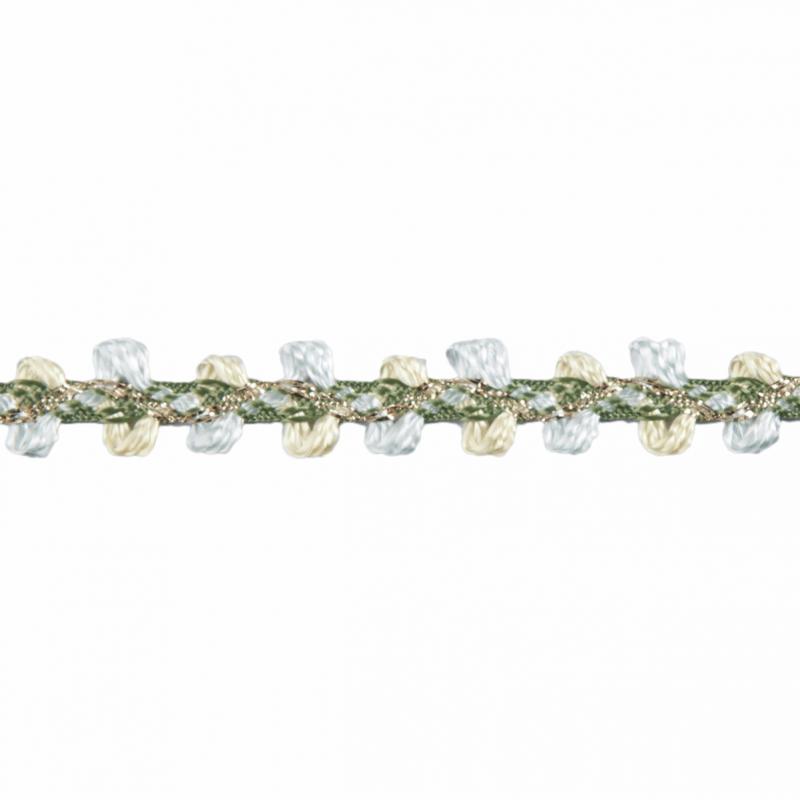 Yellow/Green Essential Trimmings  1m x 8mm Braid: Metallic Rayon Dress