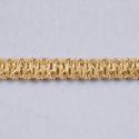 Gold Essential Trimmings 1m x 10mm Metallic Braid Sparkly Trim Plait like
