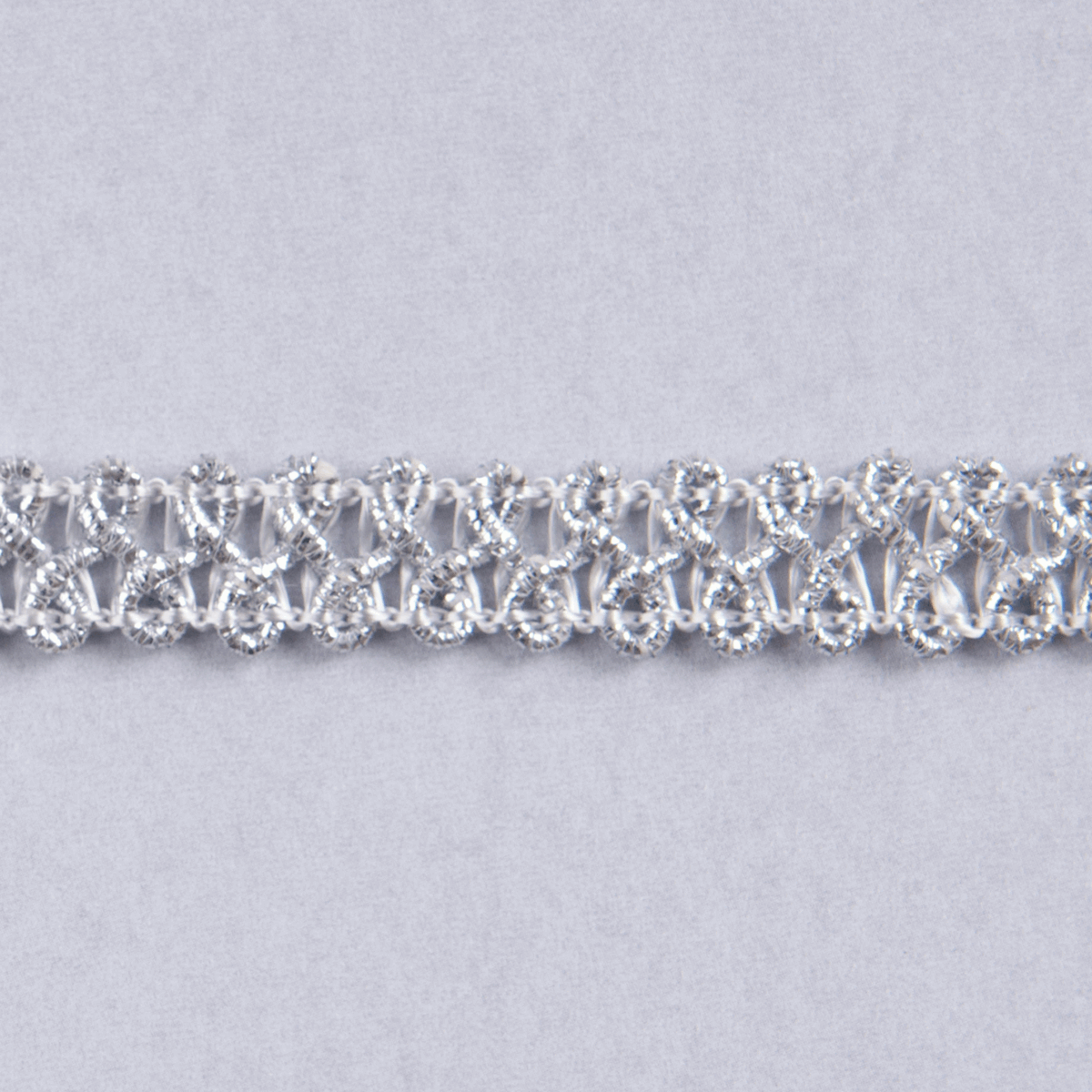 Silver Essential Trimmings 1m x 10mm Metallic Braid Sparkly Trim Plait like