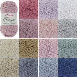 King Cole Finesse Cotton Silk Knitting Yarn 50g Wool