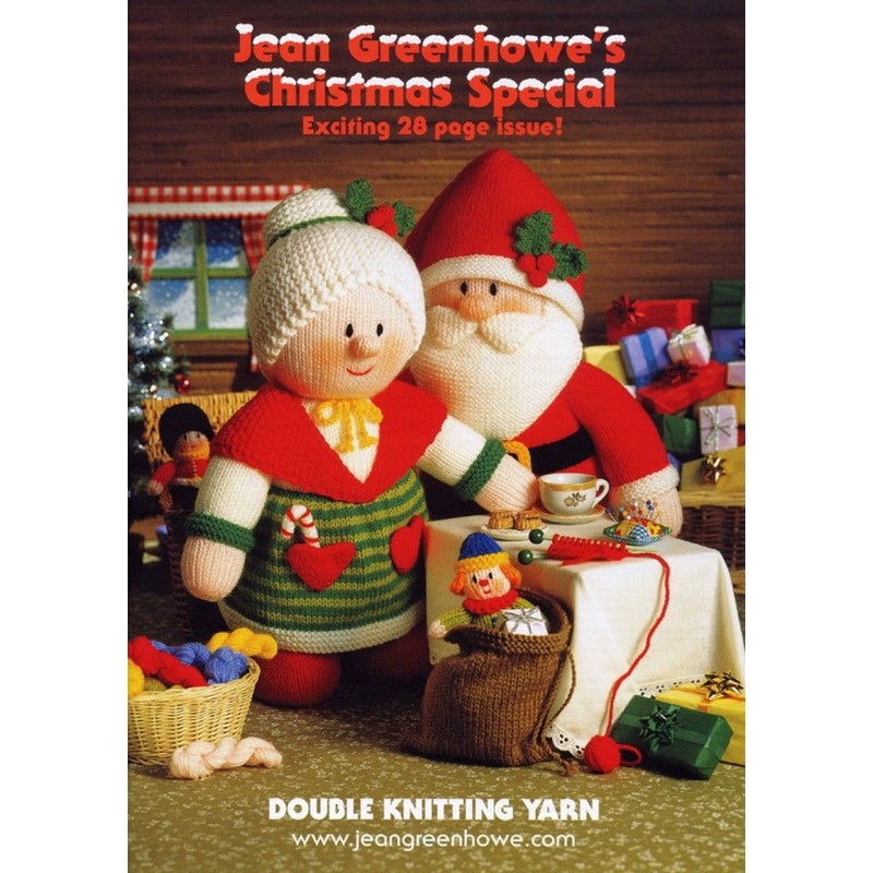 Jean Greenhowe's Chirstmas Speical Double Knitting DK Booklet Yarn Wool Xmas