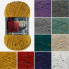 King Cole Chunky Tweed Knitting Yarn Acrylic Wool 100g Wool
