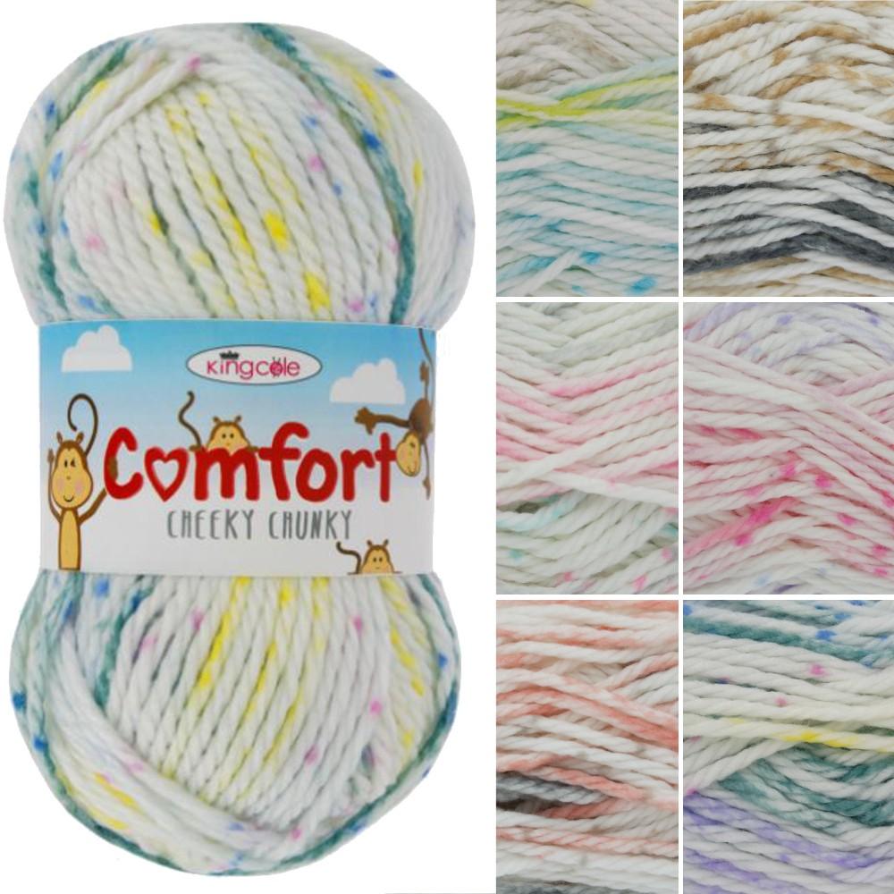 King Cole Comfort Cheeky Chunky Knitting Yarn Acrylic Nylon Wool 100g Ball Peach Fizz