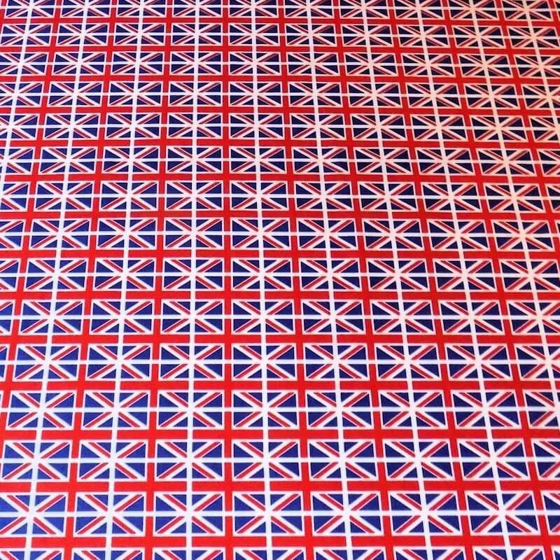 100% Cotton Poplin Fabric Rose & Hubble Mini Union Jack Flags United Kingdom UK