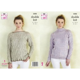 King Cole Knitting Pattern Sweaters: Knitted in Panache DK 5505