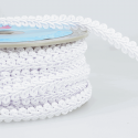 White Stephanoise 12mm Gimp Braid Trim Upholstery Soft Furnishings
