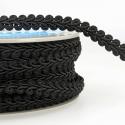 Black Stephanoise 12mm Gimp Braid Trim Upholstery Soft Furnishings