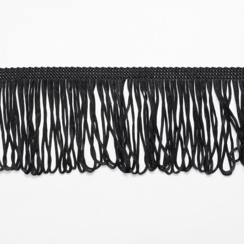 "Black Looped Dress Fringe Fringing 1"" to 12"" Trim Trimming"