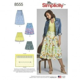 Simplicity Sewing Pattern 8555 Misses Pleated Skirt with Length Options