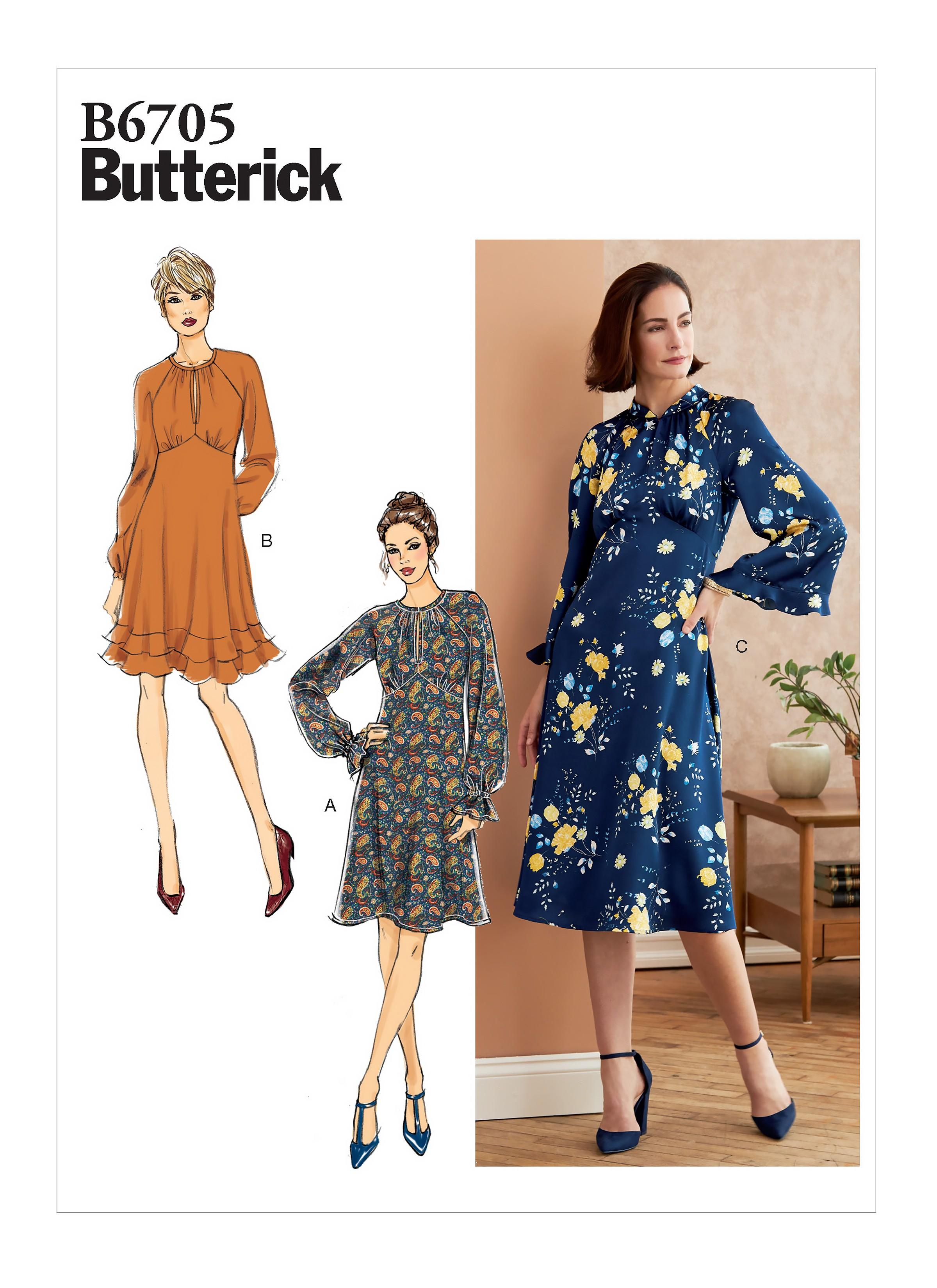 Butterick Sewing Pattern B6705 Women's Dress In Two Lengths