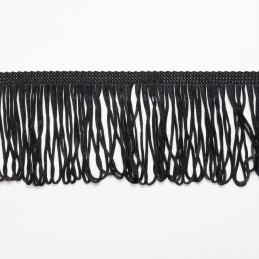 "Black Looped Dress Fringe Fringing 1"" to 12"" Trim Trimming"