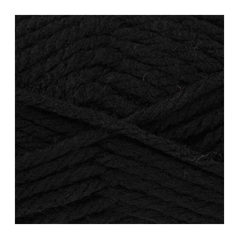 King Cole Big Value Super Chunky Wool Yarn Knitting 100% Premium Acrylic 100g Black