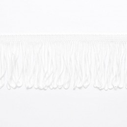 "White Looped Dress Fringe Fringing 1"" to 12"" Trim Trimming"