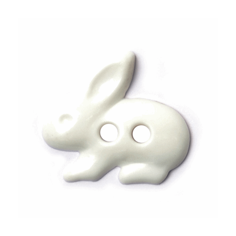 Rabbit Bunny Character buttons shape shank back baby children 18mm novelty