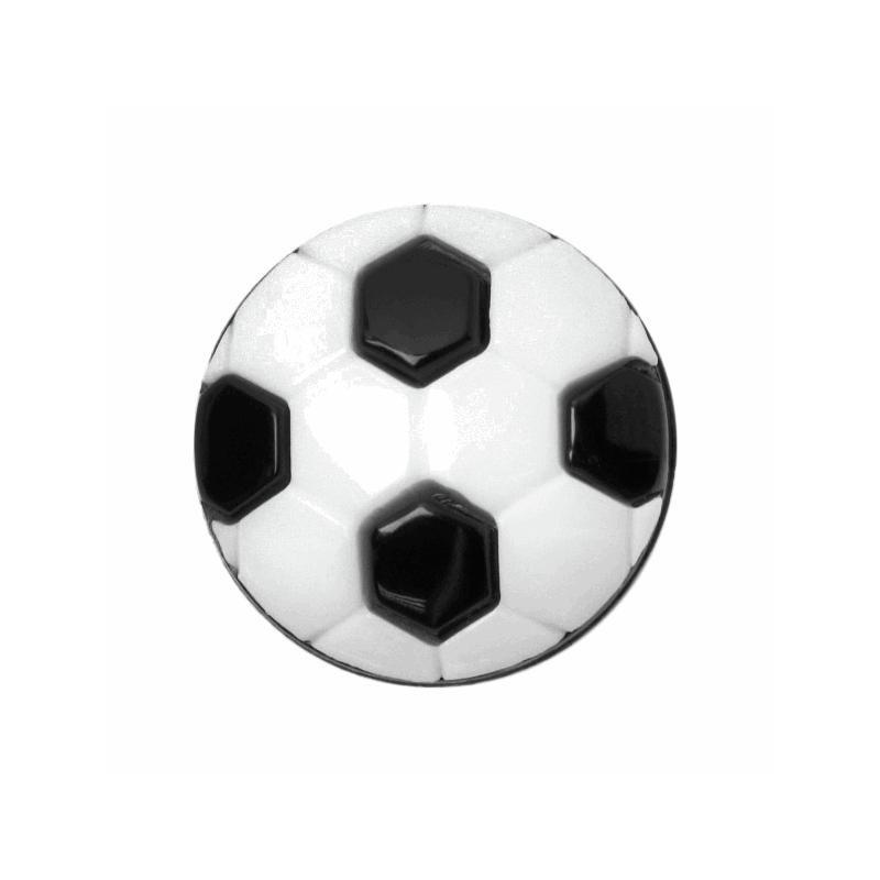 ABC Buttons 1 x 15mm Football Button Nylon Shank 24 Lignes