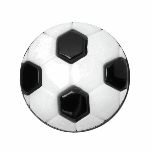 ABC Buttons 1 x 15mm Football Button Nylon Shank 24 Lignes