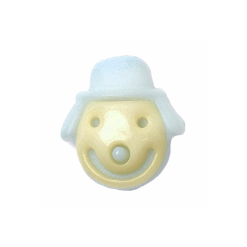 ABC Buttons 1 x 16mm Smiley Face Clown Button Shank Nylon 26 Lignes