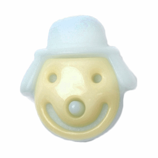 ABC Buttons 1 x 16mm Smiley Face Clown Button Shank Nylon 26 Lignes