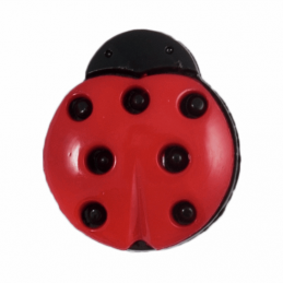 ABC Buttons 1 x Ladybird Ladybug Button