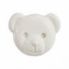 ABC Buttons 1 x 15mm Teddy Bear Face Button Shank Nylon 24 Lignes