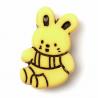 ABC Buttons 1 x 21mm Bunny Rabbit Button Nylon Shank 34 Lignes