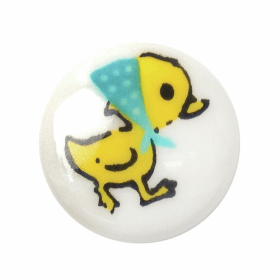 ABC Buttons Yellow Duck Button Poly Shank 13mm or 15mm