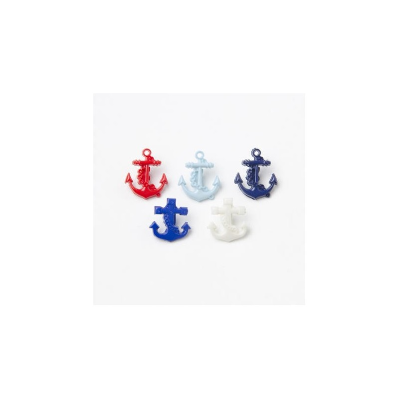 Nautical Ships Anchor 17mm x 15mm Button Plastic Shank Child Baby Craft Sewing