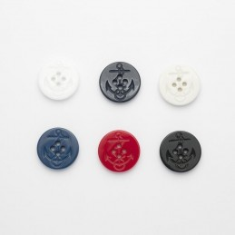 Nautical Ships Anchor Moulded Button Plastic 4 Hole Child Craft Sewing