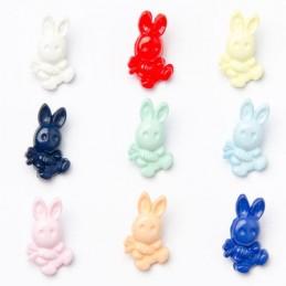 1 x Bunny Rabbit Carrot Button 20mm x 12mm Plastic Shank Novelty Buttons