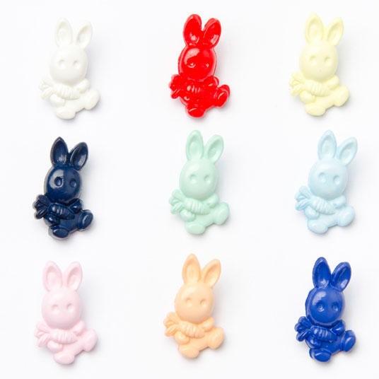 Royal Blue 1 x Bunny Rabbit Carrot Button 20mm x 12mm Plastic Shank Novelty Buttons