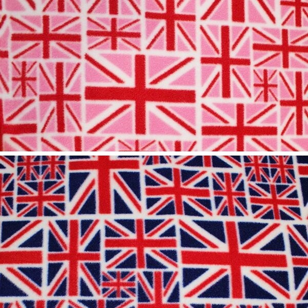 Printed Anti Pil Fleece Fabric United Kingdom Flag UK Great Britain Patriotic