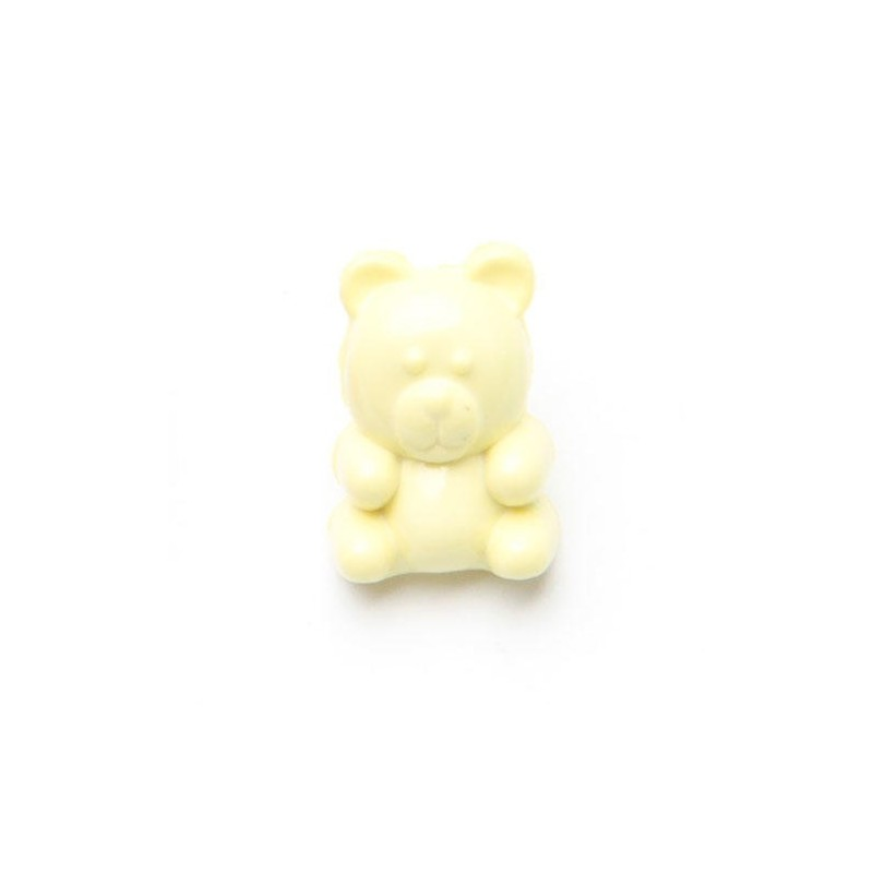 Yellow 1 x Childrens Teddy Bear Button 15mm Plastic Shank Novelty