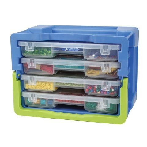 Darice Portable Designer Storage Organiser Caddy 4 Draws Removable Dividers