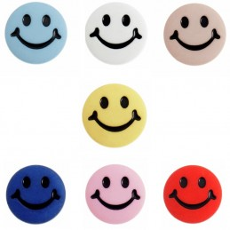Trimits 1 x Smiley Face Happy Button 15mm Poly Shank Novelty