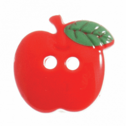 Trimits 1 x Red Apple Button 18mm 2 Hole Novelty Buttons