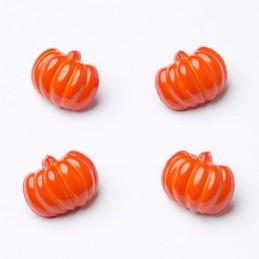 10 x 18mm Spooky Pumpkin Halloween Plastic Craft Buttons