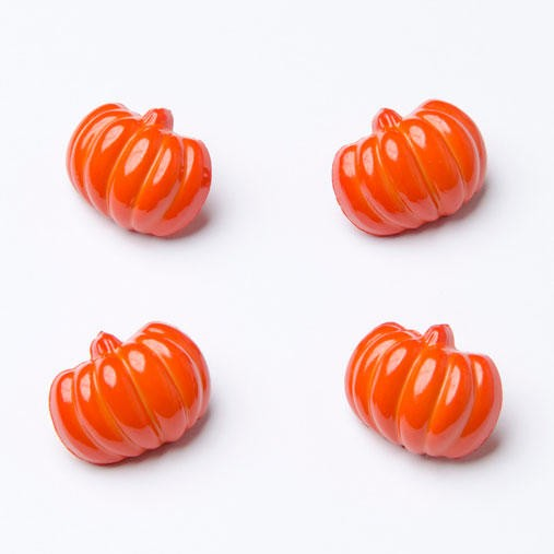 10 x 18mm Spooky Pumpkin Halloween Plastic Craft Buttons