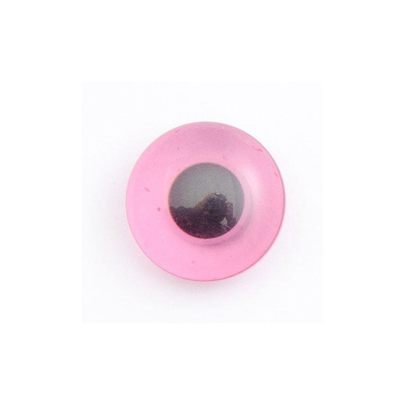 Pink 1 x Animal Eyes Round Shank Novelty Buttons Decoration Only Not For Toys Use