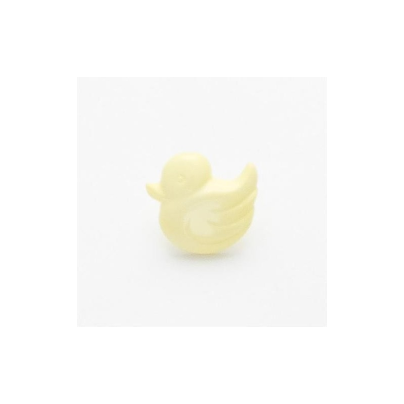 Yellow 1 x 14mm Duck Bird Button Shank Nylon 22 Lignes
