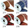Wired Edge Lurex Tartan Ribbon 63mm Christmas Xmas Festive Plaid Check