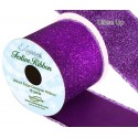 Purple Wired Edge Sparkle Glitter Ribbon 63mm Christmas Xmas Party Festive