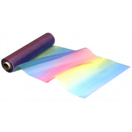 29cm Wide Rainbow Organza Fabric Voile Fantasia Dress Costume Party