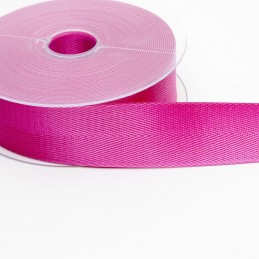 5 Cerise Shiny Herringbone Tape 40mm Poly Twill Tape For Bunting, Aprons, Bags,