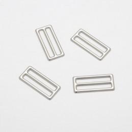 1 x 3 Bar Metal Sliders Silver 25mm Adjuster Belt Buckle Handbag Strap